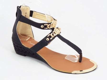 Sandale dama negre ortopedice toc 4 cm Herra