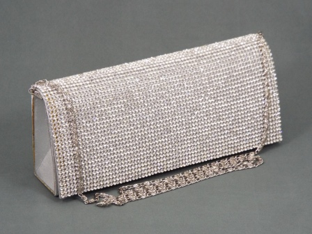 Geanta dama clutch argintie Gyna