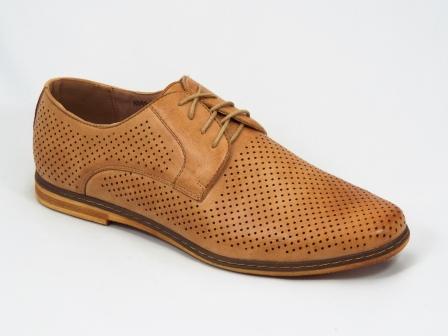 Pantofi barbati maro perforati Rikon