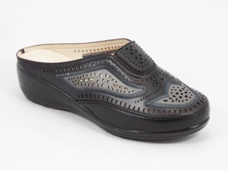 Papuci dama negri ortopedici toc 4 cm Janna