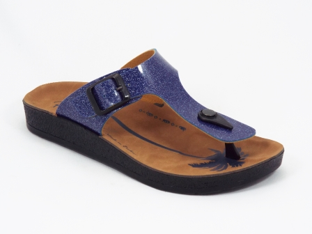 Papuci dama albastri Brynna
