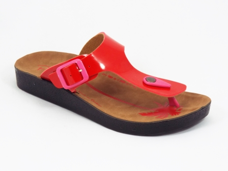 Papuci dama rosii Brynna