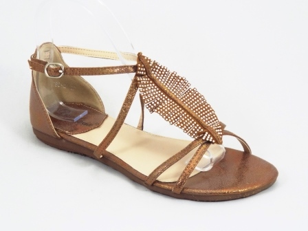 Sandale dama aurii strasuri Ronda