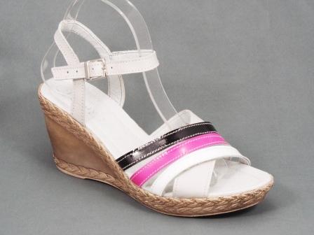 Sandale dama piele gri multicolore ortopedice toc 9 cm Hanse