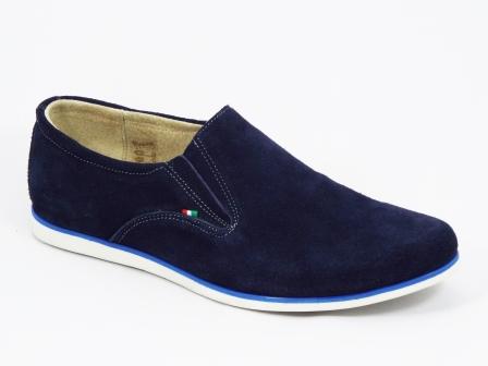 Pantofi barbati piele intoarsa albastri sport Fredo