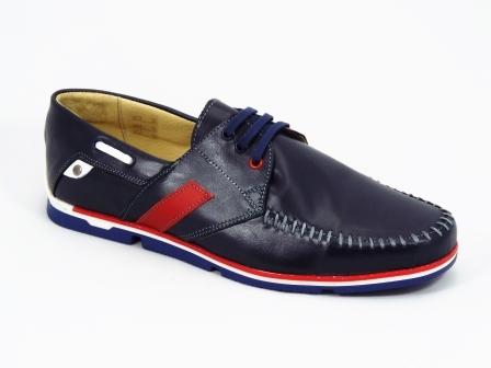 Pantofi barbati piele albastri sport Gregory