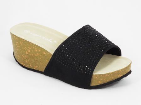Papuci dama negri ortopedici toc 6 cm Ryanna