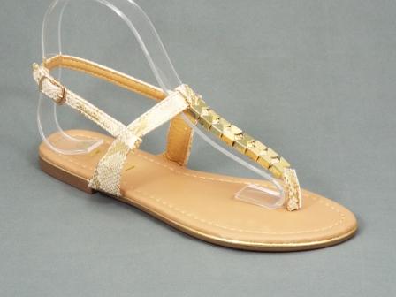Sandale dama aurii cu bej Kerny