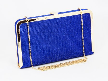 Geanta dama clutch albastra Lolly