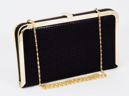 Geanta dama clutch neagra Lolly