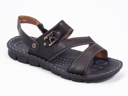 Sandale barbati negre Trenko