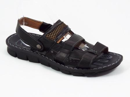 Sandale barbati negre Eryk