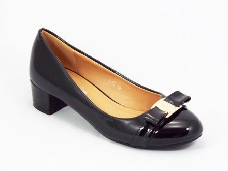 Pantofi dama negri lac toc 3 cm Freya
