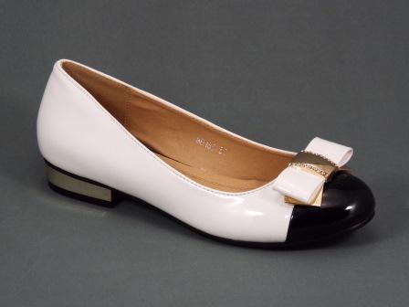 Pantofi dama albi toc 2 cm Ougi