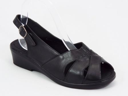 Sandale dama negre ortopedice Raya