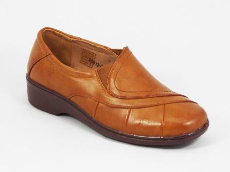 Pantofi dama maro ortopedici toc 3,5 cm Flyno