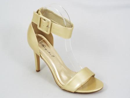 Sandale dama bej patinat toc 10 cm Freda