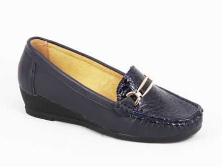 Pantofi dama albastri ortopedici toc 3 cm Glory