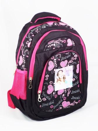 Ghiozdan fete negru cu roz tip Violetta