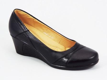Pantofi dama negri ortopedici toc 5,5 cm Flory