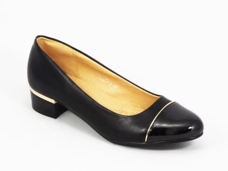 Pantofi dama negri lac toc 3 cm Melly