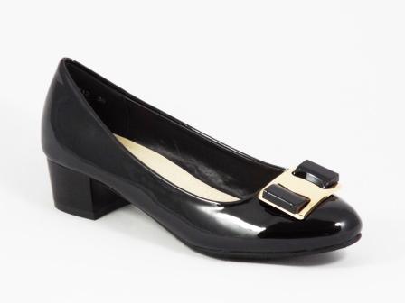 Pantofi dama negri lac toc 3 cm Kelly