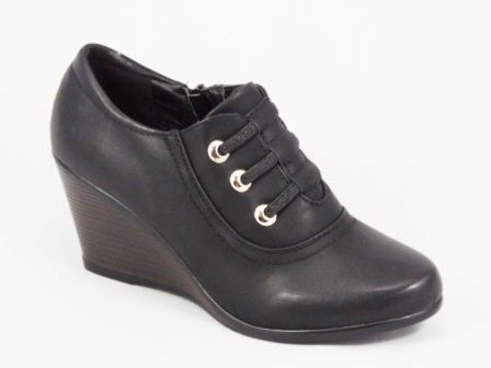 Pantofi dama negri ortopedici toc 7 cm Glorya
