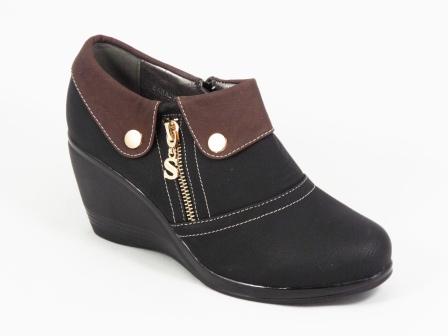Pantofi dama negri talpa ortopedica 7 cm Crynna