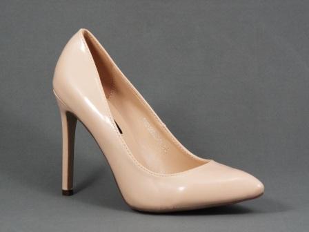 Pantofi dama bej stiletto toc 10 cm Fly