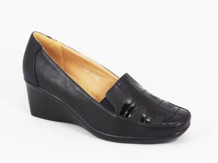 Pantofi dama negri talpa ortopedica toc 5,5 cm Zenna
