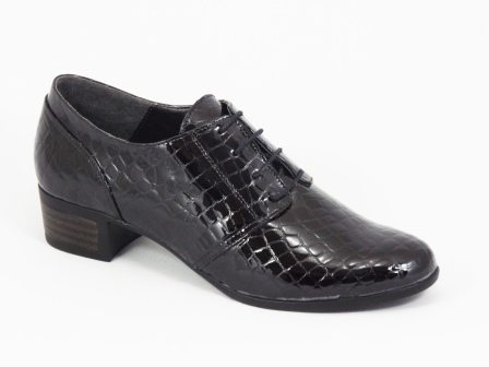 Pantofi dama piele lac negri toc 5 cm Lymo