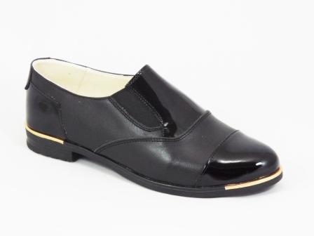 Pantofi dama piele negri Lemo