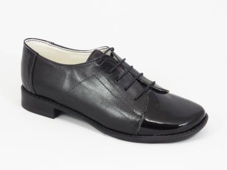 Pantofi dama piele lac negri Nelly