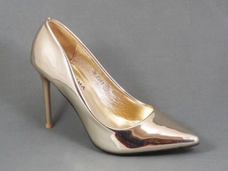 Pantofi dama aurii stiletto toc 10 cm Dorina