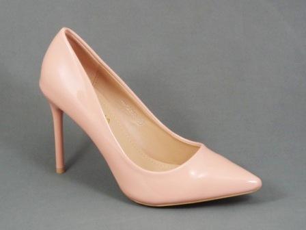 Pantofi dama bej nude lac stiletto toc 10 cm Dorina
