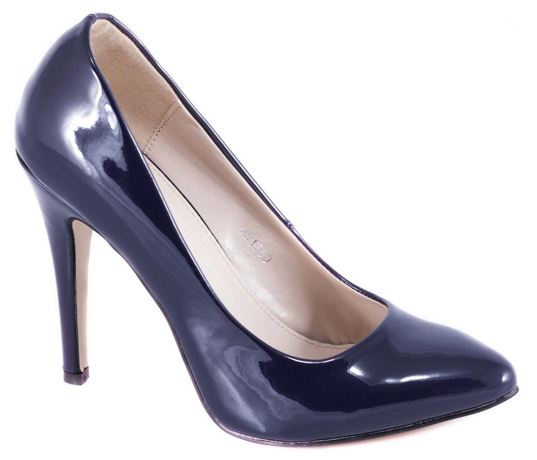 Pantofi dama albastri lac toc 10 cm Diana