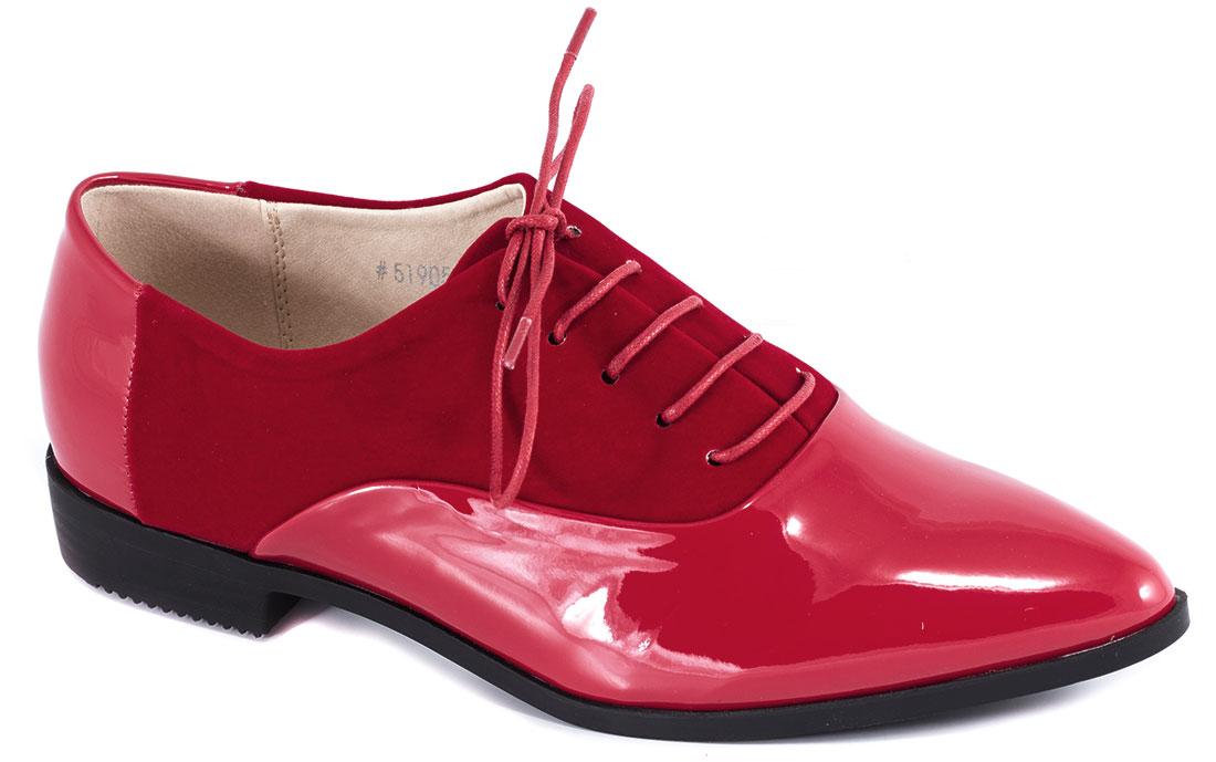 Pantofi dama rosii lac toc 2 cm Krina