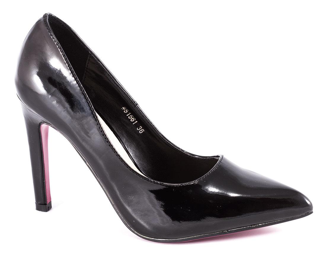 Pantofi dama negri stiletto cu toc 10 cm Verrno