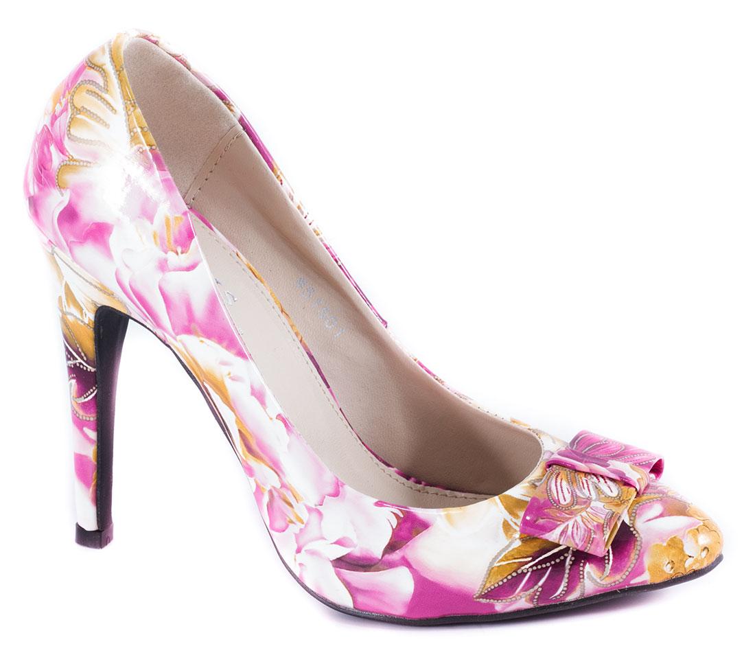 Pantofi dama fucsia stiletto toc 10 cm Seryna