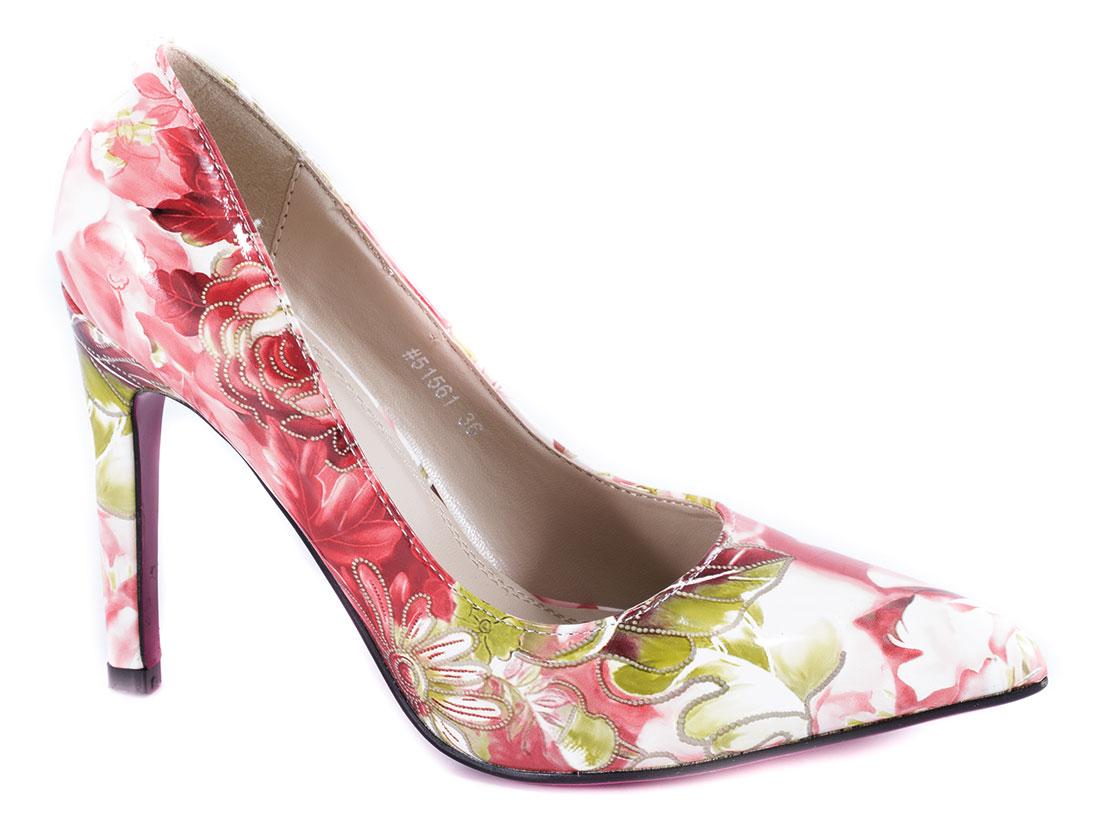 Pantofi dama rosii stiletto toc 10 cm Verrno