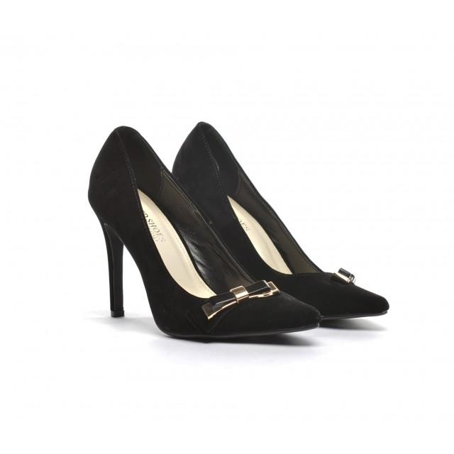 Pantofi dama negri stiletto toc 9 cm Doryne