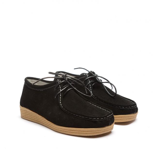 Pantofi dama negri piele intoarsa Julya