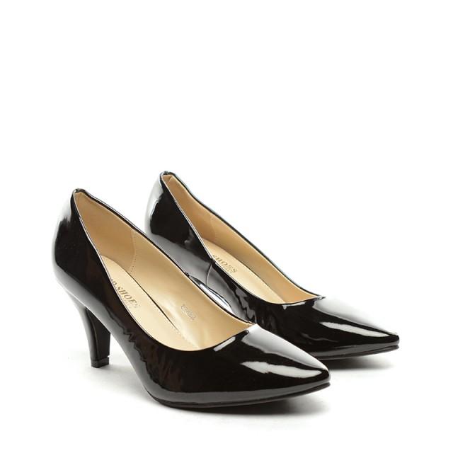Pantofi dama negri lac toc 8 cm Zoryna