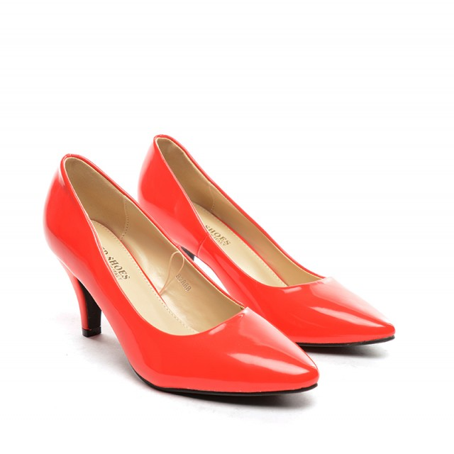 Pantofi dama rosii lac toc 8 cm Zoryna