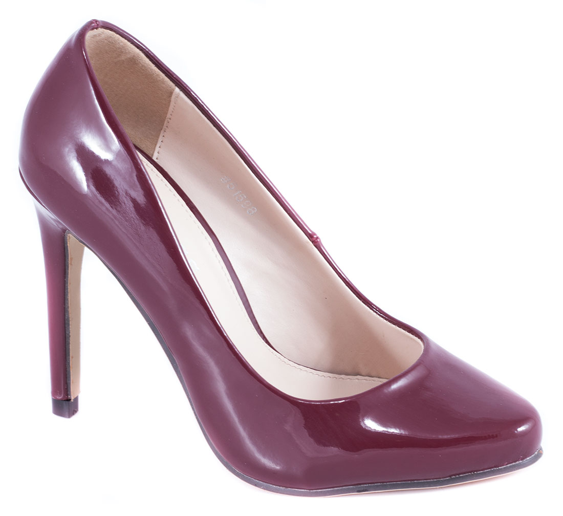 Pantofi dama visinii lac toc 10 cm Ronna