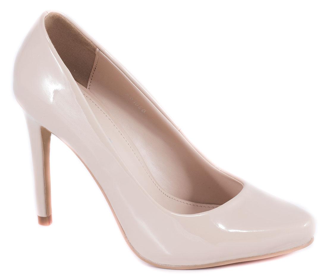 Pantofi dama bej nude lac toc 10 cm Ronna