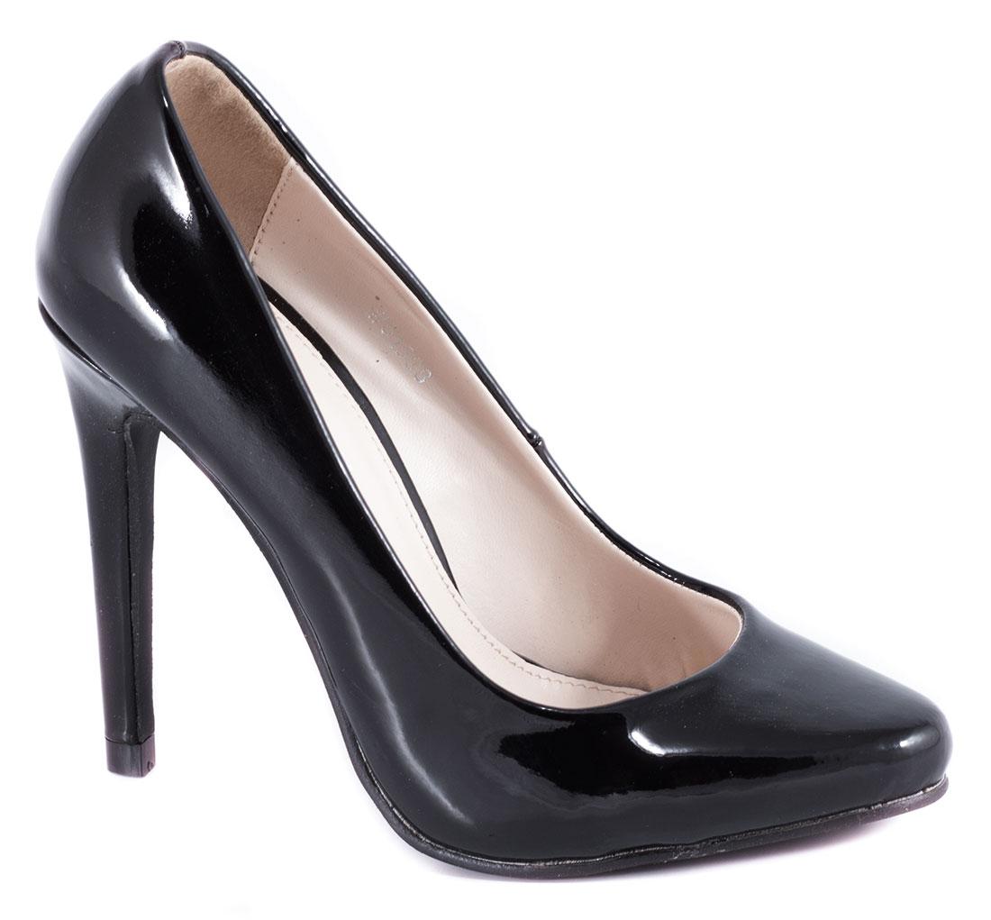 Pantofi dama negri lac toc 10 cm Ronna