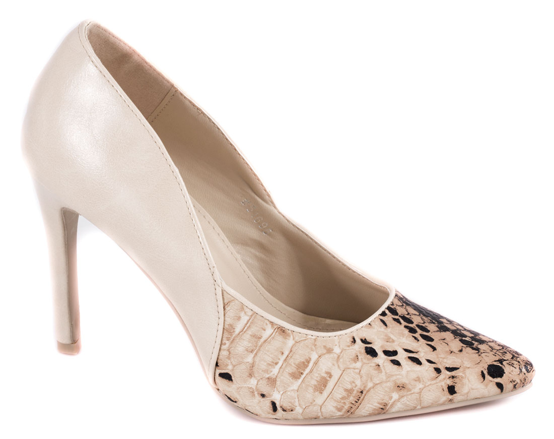 Pantofi dama bej toc 10 cm Vyka