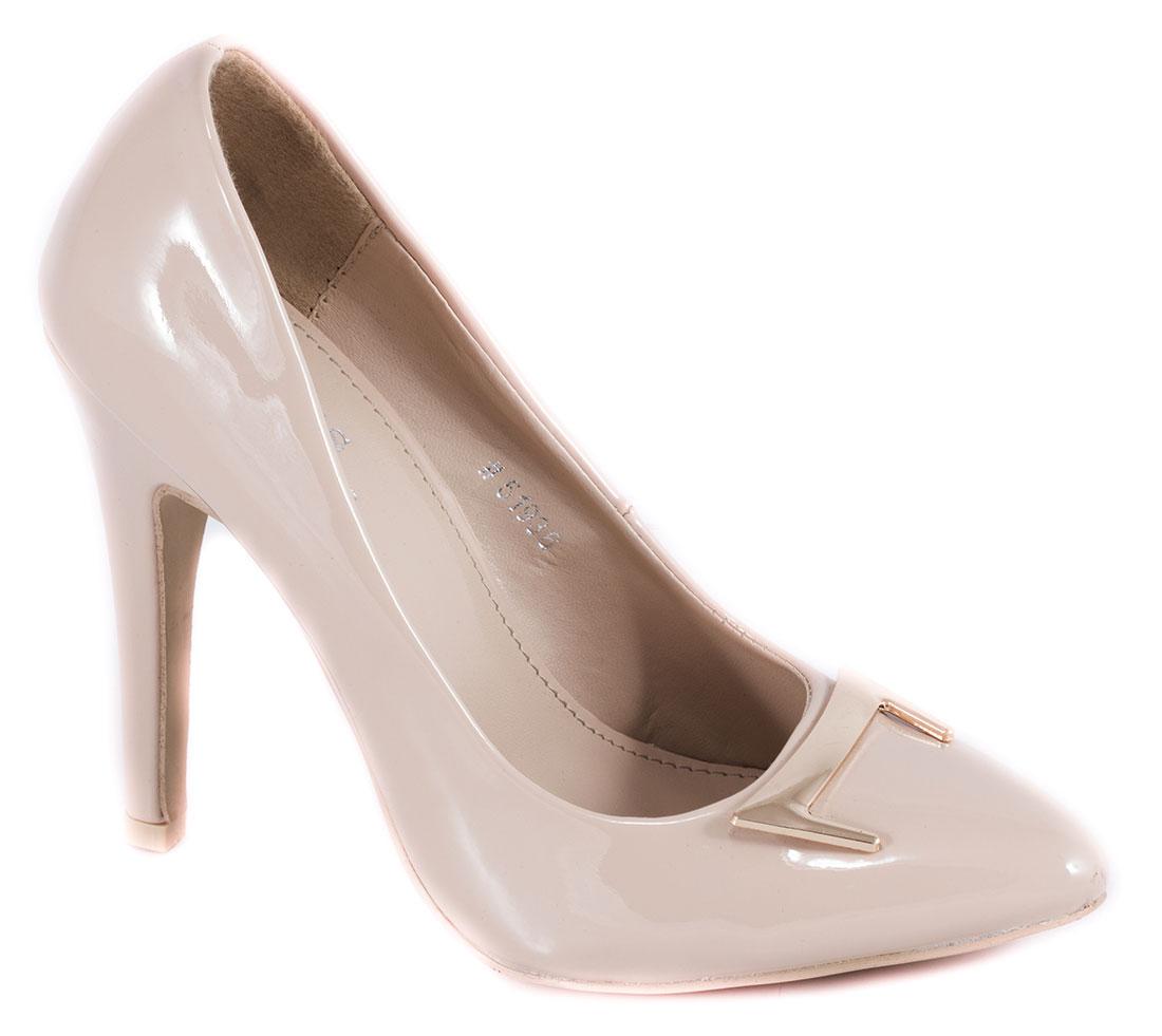 Pantofi dama bej nude lac toc 10 cm Yonna