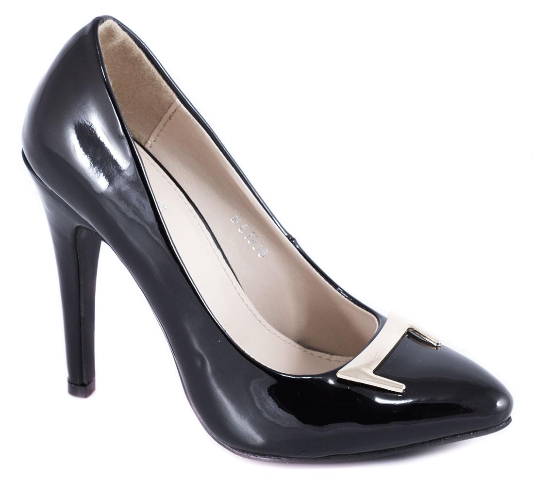 Pantofi dama negri lac toc 10 cm Yonna